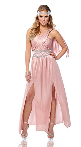 [Costume Culture Women's Athena Goddess Costume, Pink, Large] (Athena Adult Costumes)