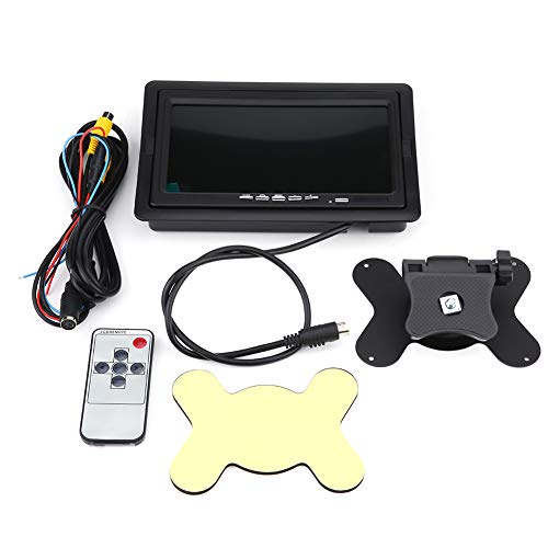 Rearview Monitor,7 Inch TFT LCD Display 800X480 Resolution Screen with Bracket Remote Control and 2 AV Inputs for Car Backup Camera