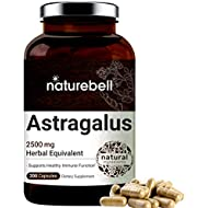 Maximum Strength Astragalus 2500mg Herbal Equivalent, 200 Capsules, Supports Healthy Immune System, No GMOs and Made in USA