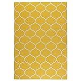 Stockholm Rug flatwoven Handmade net Pattern Yellow net Pattern Yellow