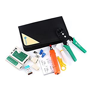 Zoostliss Portable Ethernet Network Tool Cable Tester Kit