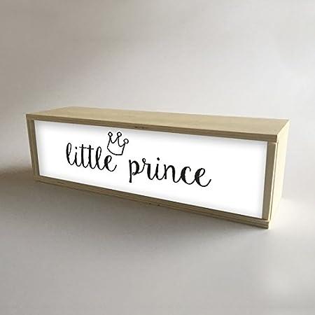 Caja de madera con luz interior, decoración y regalo infantil para ...