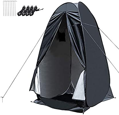 Amazon.com: WOLFWILL Portable Pop Up Camping Shower Privacy ...