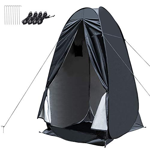 WOLFWILL Portable Pop Up Camping Shower Privacy Tent Dressing Changing Room Shelter for Beach Camp Toilet Outdoor with Carrying Bag