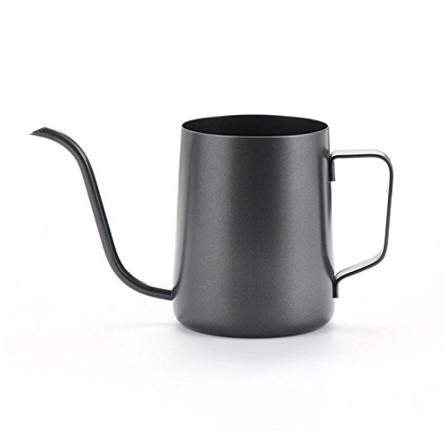 (Stainless Steel Coffee Pot Gooseneck Spout Long Mouth Kettle Teapot Coffee Pot Coffee Hand Punch Mounting Bracket 600 ml)