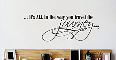 Design with Vinyl 2 Zzz 629 Decor Item its All in The Way You Travel The Journey Life Quote Wall Decal Sticker, 14 x 28-Inch, Black
