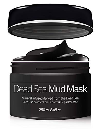 Evenness Dead Sea Mud Mask - Organic Mineral Skin Cleansing Mask for Face and Body - Deep Skin Cleaning - Reduces Pores and Acne Problems - SPA-Like Results - Healthy Complexion - 8.5Oz All-Natural ()