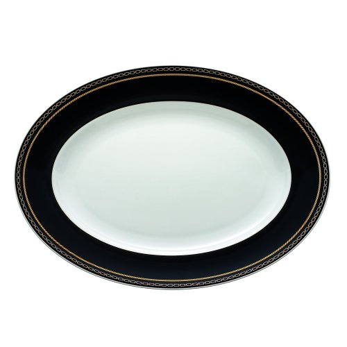 Vera Wang Wedgwood with Love Noir Oval Platter, -