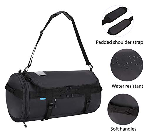 fc1cfd3445 MIER Large Duffel Backpack Sports Gym Bag with Shoe Compartment