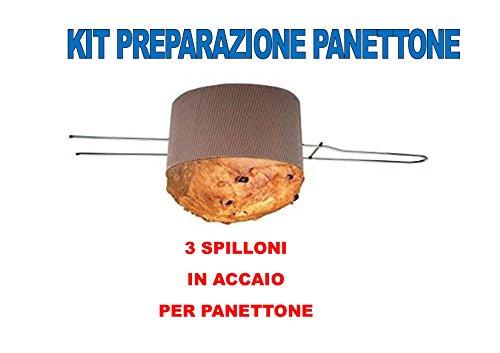 SPILLONE per Panettone o Colomba in Acciaio da 50 CM CDC - (3 SPILLONI) 2