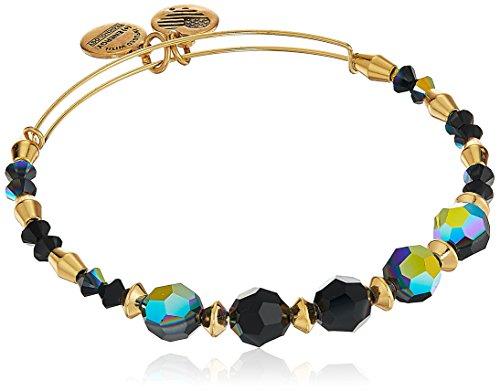 Alex and Ani Swarovski Crystal Beaded, Milkyway Bangle Bracelet- Shiny Gold