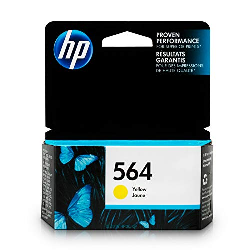 HP 564 Ink Cartridge Yellow (CB320WN) for HP Deskjet 3520 3521 3522 3526 HP Officejet 4610 4620 4622 HP Photosmart: 5510 5512 5514 5515 5520 5525 6510 6512 6515 6520 6525 7510 7515 7520 7525 B8550