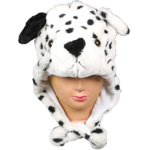 Silver Fever Plush Soft Animal Beanie Hat Short Dalmation -