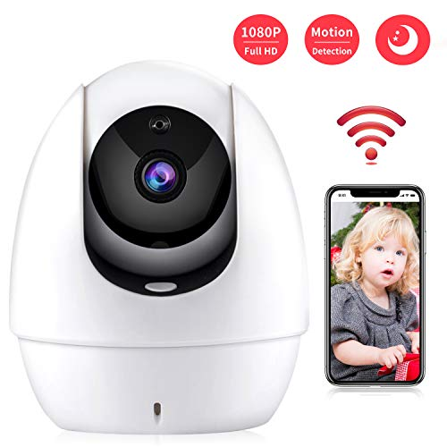 HD Security Camera Wireless 2.4G WiFi Camera 1080P Indoor Camera with Motion Dection, 2 Way Audio, IR Night Vision, Home Surveillance Elder/Baby Monitor with Camera and Audio Pet Camera