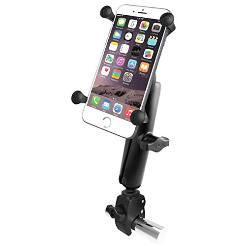 RAM MOUNTS (RAM-B-400-C-UN10U Small Tough-Claw Base with Long Double Socket Arm and Universal X-Grip Iv Large Phone/Phablet Holder