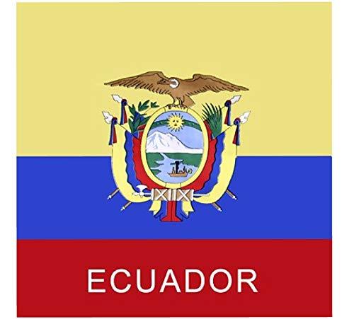 (BUNFIREs ONE Ecuador Flag Ecuadorian Bandana Bandanna Biker DURAG Head WRAP Scarf Large Size: 22 X 22)