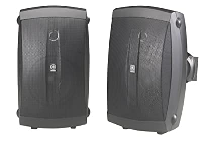 Yamaha NS-AW150BL 2-Way Outdoor Speakers (Pair, Black) by YAMAHA