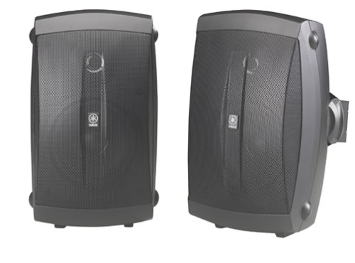 Yamaha NS-AW150BL 2-Way Indoor/Outdoor Speakers (Pair, Black) - Wired ()