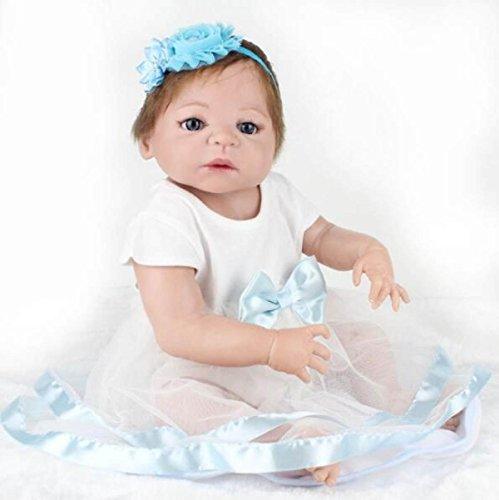 YIHANG Reborn Körper Silikon Vinyl Puppe 22 Zoll Magnetischer Mund Voll Lebendiges Baby Real Vinyl Bauch Kinder Spielzeug Kinder Geburtstagsgeschenk Kann Wäscht