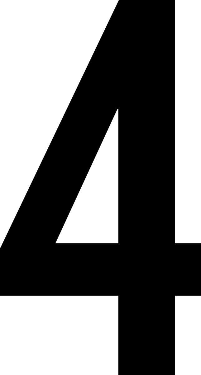 Haust/ür ShirtInStyle Zahlen selbsklebende Aufkleber von 2-20cm H/öhe M/ülltone Kennzeichen Basteln Boote schwarz Ziffer 4-20cm Nummern
