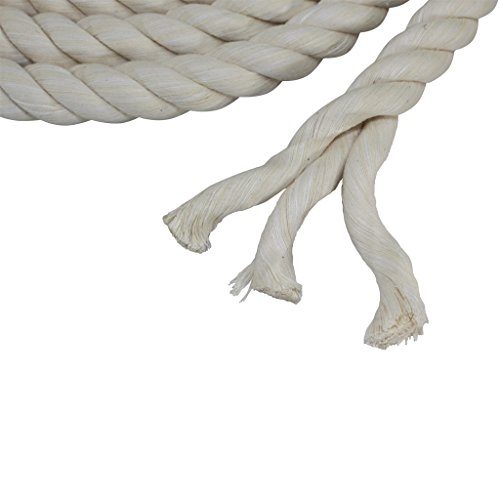 Twisted Cotton Rope (1/4 inch) - SGT KNOTS - All Natural Fiber Cord - Durable and Versatile Utility Rope - Crafting, DIY Use, Binding, Home Decor, Camping, Boating, Marine (100 feet - Natural) by SGT KNOTS (Image #3)