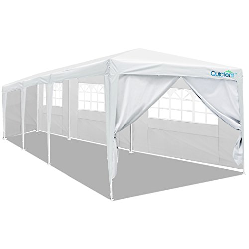 Quictent 10 X 30 Outdoor Canopy Gazebo Party Wedding Tent Pavilion with 5 Sidewalls