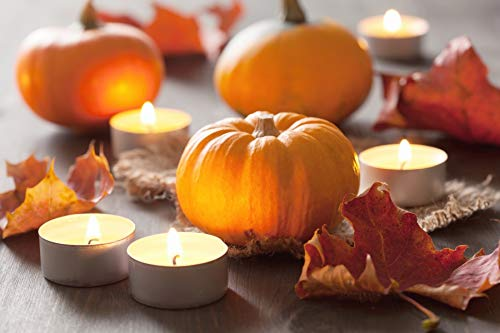 (Yeele 10x6.5ft Halloween Photography Background Fall Happy Halloween Candle Yellow Red Maple Landscape Pumpkin Photo Backdrops Pictures Adult Artistic Portrait Photoshoot Props)