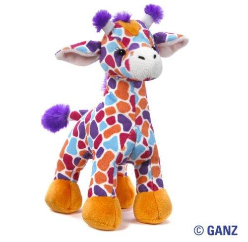 Webkinz SUNSET GIRAFFE July 2012 Release Virtual / Plush Pet + Free Pack Of AFRIKA Silly Bandz Neon Bracelets Which Includes a Giraffe Shaped Bandz!!!