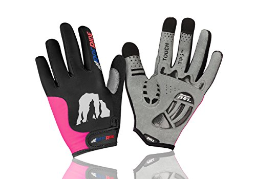 RocRide Cycling Gloves with Gel Padded Protection. Road and Mountain Biking. Half and Full Finger Men, Women and Children Sizes.