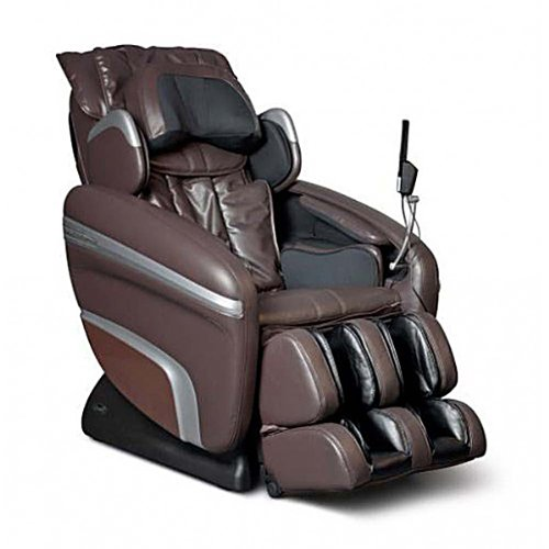 Osaki OS7200HB-FWG Model OS-7200H Executive ZERO GRAVITY S-Track Heating Massage Chair, Brown with Inside Delivery and Setup, Computer Body Scan, Arm Massage, Quad Roller Head Massage System ()