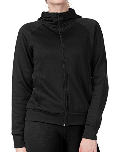 Regna X Love Coated Women Benton Springs Full-Zip Hoodie Fleece Jacket Black S by Regna X (Image #1)