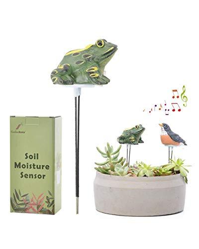 GardenBasix Frog Soil Moisture Meter Houseplant Watering Alarm Plant Water Tester Hygrometer Sensor for Planter Water Remind Warning Alert Content (Green)