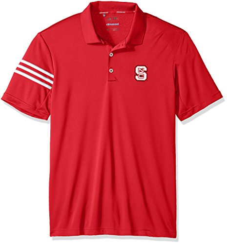adidas NCAA North Carolina State Wolfpack Adult Men Spring Game 3-Stripe Polo,Medium,Power ()