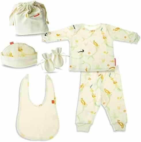 616db8326 Aneta Kidz Mermaid Baby Girl Gift Set Hypoallergenic GOTS Certified 100%  Organic Knitted Interlock