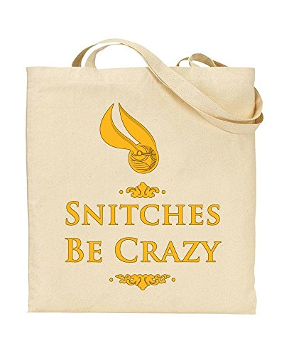 Quidditch TOTE Be Shopping Gift Bag Snitches Snitch by TeeDemon® Crazy HP Novelty Handbag dwI1dXq