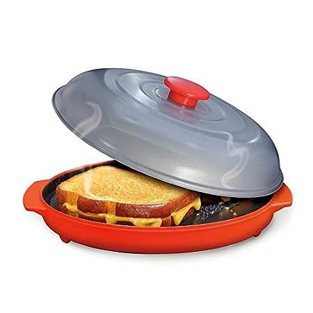Mimagogo Grill Pan de microondas para frutas y verduras con tapa ...
