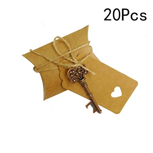 (BESTOYARD Key Bottle Opener tag Kraft Paper Gift Tags for Wedding Favors Event Party Supplies (Snowflake))