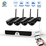 1080P Wireless Security Camera System JOOAN NVR 2.0MP 4 cameras WiFi Outdoor Network IP Cam CCTV Video Surveillance System Remote Monitoring Waterproof Good Night Vision With Motion Detection & Email Alarm