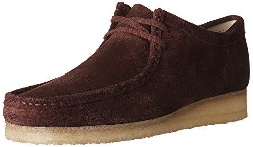 CLARKS Men's Wallabee Burgundy Suede 7.5 D US - Clarks Shoe Outlets