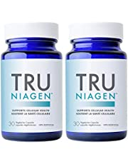 TRU NIAGEN - Nicotinamide Riboside, 30 Count Bottle, 30 Day Supply 300mg Vegetarian Capsules - Trusted NAD+ Supplement for Supporting Cellular Health & Energy Metabolism, Vitamin B3, 300mg Per Serving (30 Count (Pack of 2)
