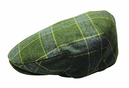 Plaid Print Cap - The Quiet Man Irish Designed Green Tartan Designed Flat Cap
