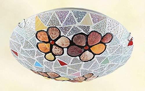 BOSSLV Style Led Ceiling Light Shade in Glass Artisan Art Retro for Bedchamber Children Parlor Dining Hall (A++) 40Cm