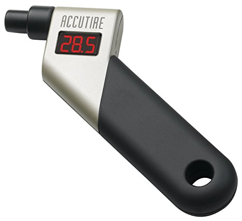 Accutire LCD Digital Air Pressure Tire Tyre Gauge Tester Tool for Car Auto Motorcycle SUV Trucks with Rubberized Grip Handle - 0.34 Bar--10.34 Bar ( 5~150 PSI)
