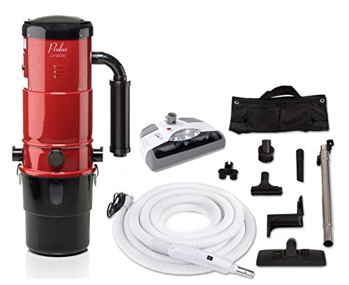 Central Vac Vacuum System - Prolux CV12000 Central Vacuum Unit System with Electric Hose Power Nozzle Kit and 25 Year Warranty