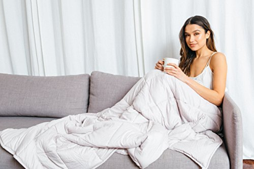 Luna Weighted Blanket (15 lbs | 60'' x 80'')•Scientifically Engineered for Stress, Anxiety, ADHD, Autism, Deeper Sleep• 100% Organic & Breathable Cotton • 100 Day Free Return by Luna Wellness (Image #9)