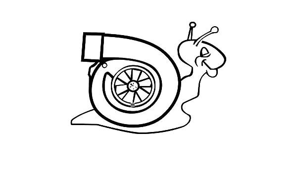 RJSYT Etiqueta Engomada Calcomanías de Vinilo para Caracol Turbo computadoras portátiles televisores automóviles 2PCS: Amazon.es: Coche y moto