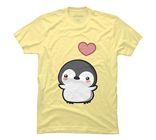 Design By Humans Penguin Men's Small Banana Cream Graphic T - Shirt Dolce T Banana