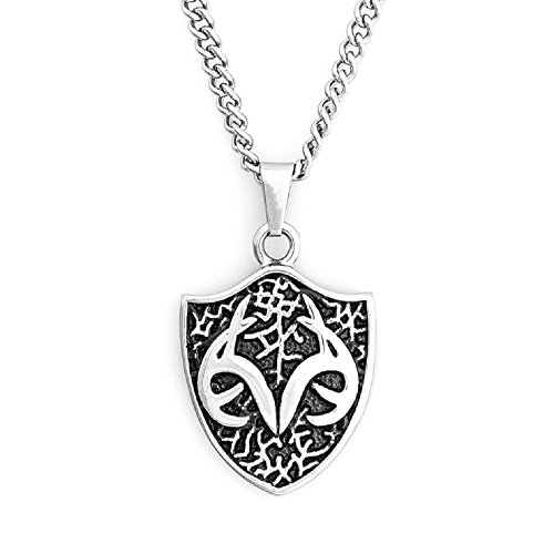 Licensed Realtree Men's Shield Pendant 24