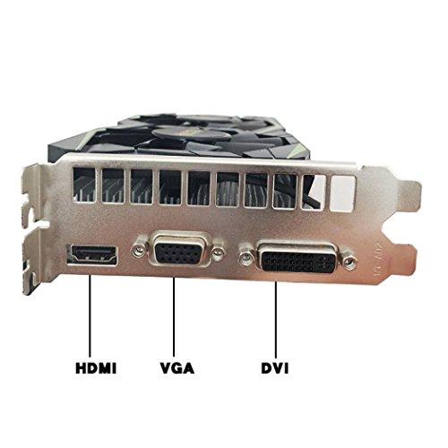 YIYEZI GTX 750Ti 2GB GDDR5 192bit VGA DVI HDMI Graphics Card With Fan For NVIDIA GeForce (White) by YIYEZI (Image #4)'