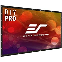"Elite Screens DIY PRO, Indoor Outdoor Portable Projector Screen PVC 133-inch 16:9, 8K 4K Ultra HD 3D Movie Theater Cinema 133"" Projection Screen with Grommets, Roll-Up Hang Anywhere, DIY133H1"
